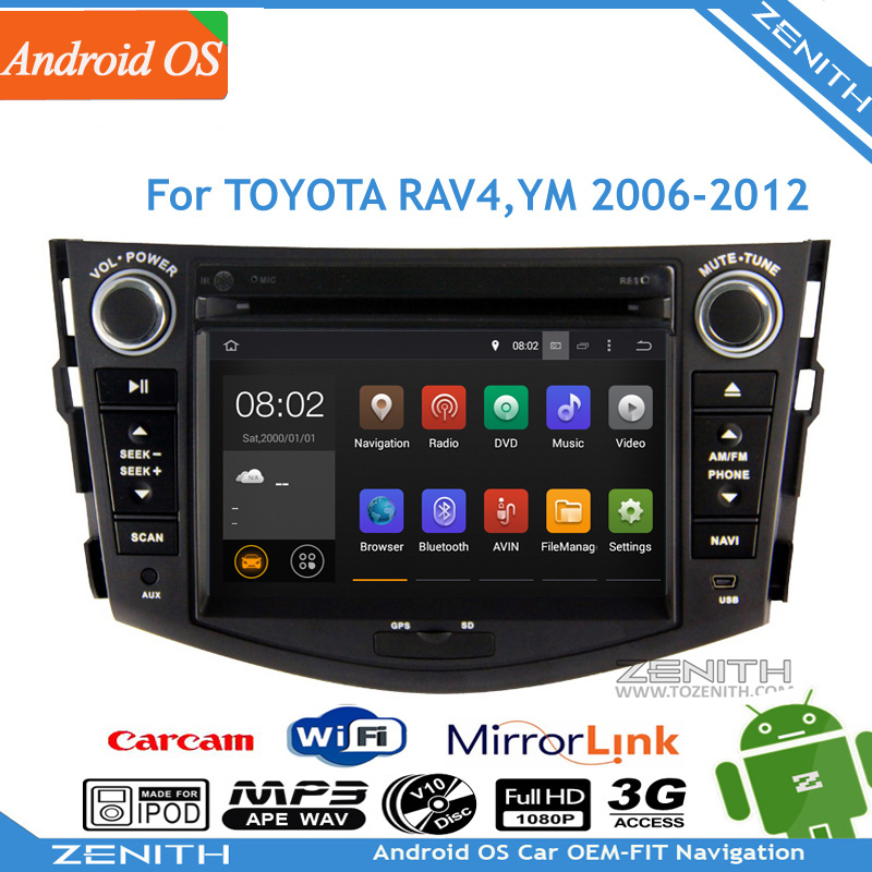 Sales Pure Android Car Headunit Sat Nav DVD Player Toyota RAV4 2006 2007 2008 - 2012 GPS Navi Radio Stereo Built-in WiFi(Hong Kong)