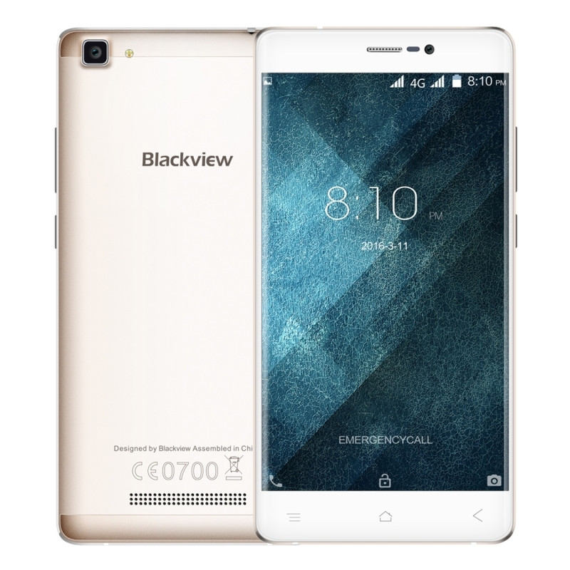 Original Blackview A8 MAX 4G LTE Smartphone 2GB RAM 16GB ROM 5.5 inch MTK6737 Quad Core 8.0MP 3000mAh Android 6.0 Cell Phone