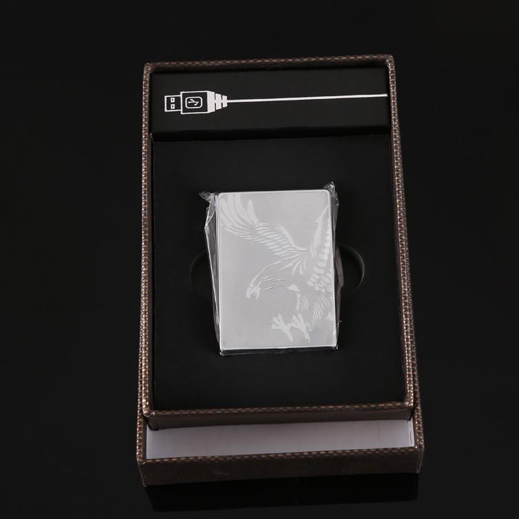 ถูก โลหะที่สง่างามWindproofแปลกEncendedor Usbไฟแช็บุหรี่อิเล็กทรอนิกส์เบาUSBไฟแช็ที่ดีที่สุดของขวัญสำหรับผู้ชาย
