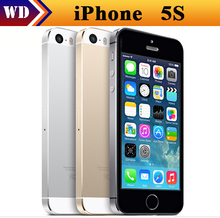 Factory Unlocked Original Apple iPhone 5s phone 16GB / 32GB ROM IOS White Black GPS GPRS A7 IPS Free Shipping(China (Mainland))