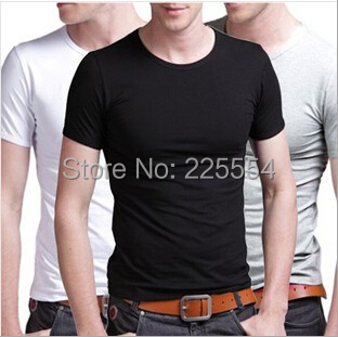 Fashion Plus Size Pure cotton Men T shirt Casual Solid Color Sport Tee Shirt O-Neck Slim T-Shirts tops&tees. - TOP Sweater store