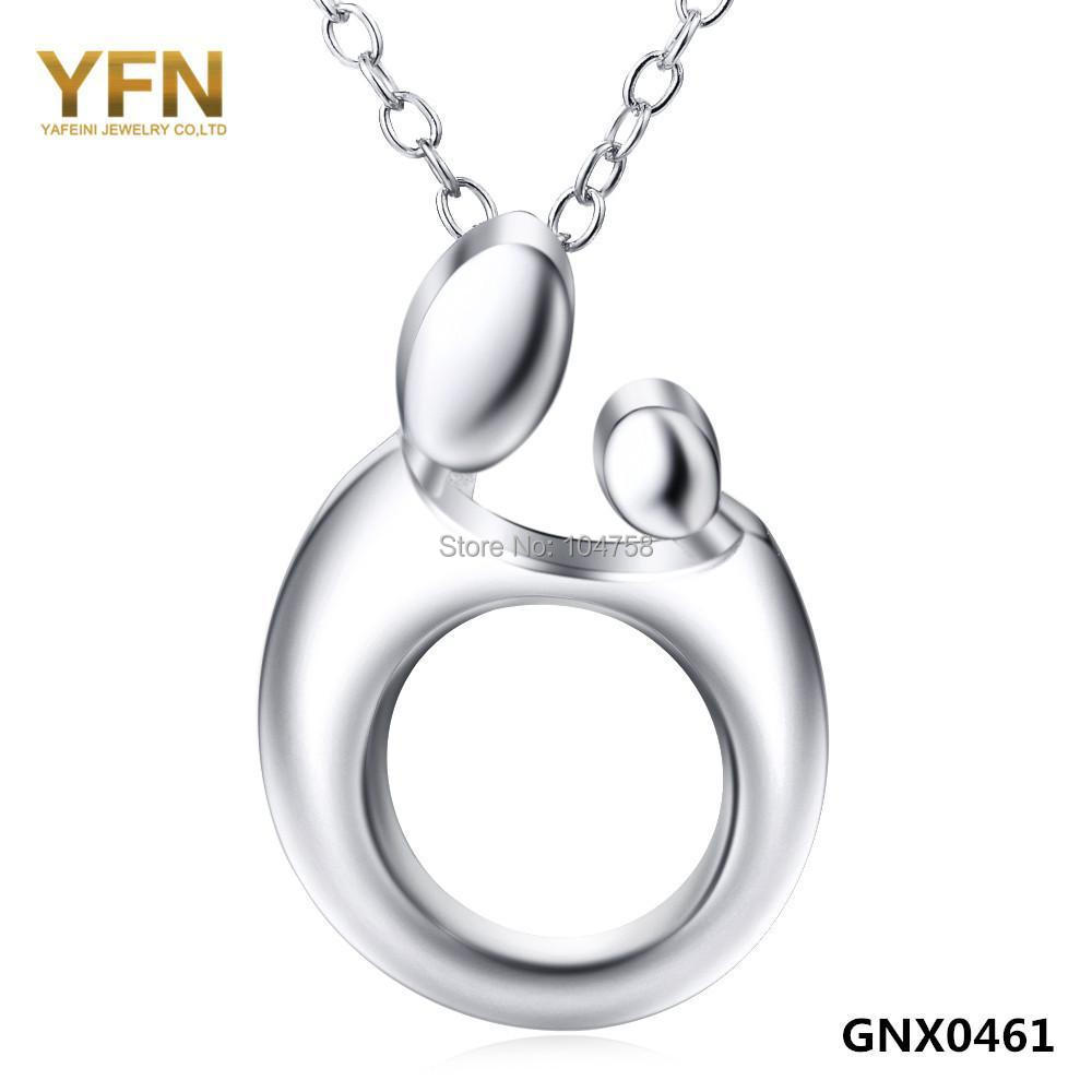 Genuine 925 Sterling Silver Pendant Necklace New 2015 Accessories Fashion Collares Necklace Gifts For Women GNX0461(China (Mainland))