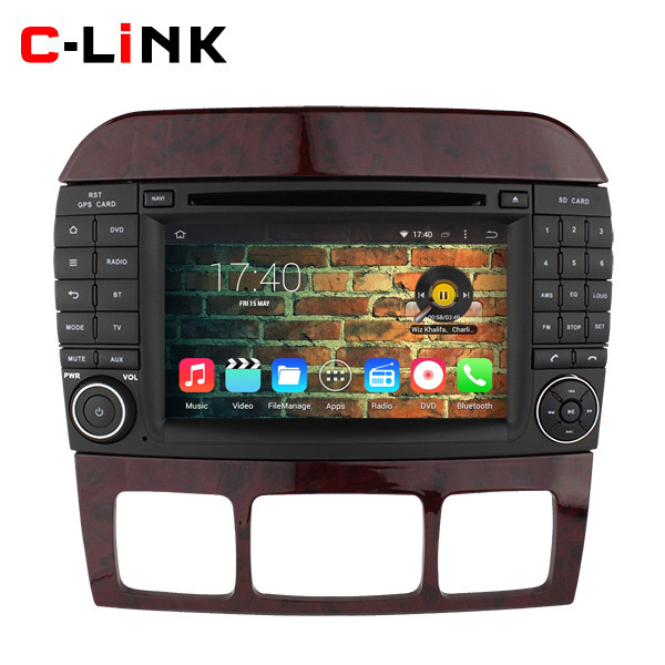 """Quad Core 1.6GHz 7"""" 1024*600 Android 4.4 Car PC For Merdeces Benz W220 W215 Video Player GPS Radio RDS WIFI 3G Bluetooth OBD2 TV(China (Mainland))"""