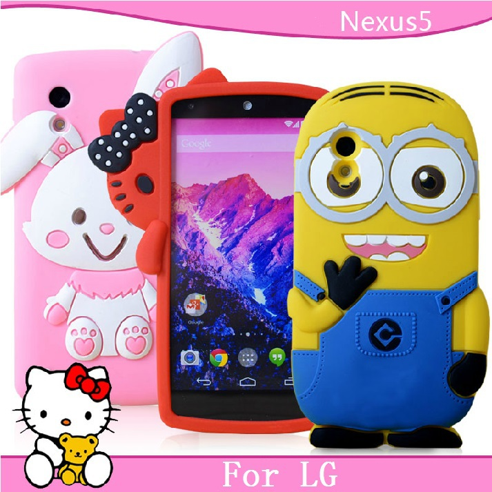 Free shopping for LG nexus 5 mobile phone case for lg nexus 5 protective case cell phone case silica gel set(China (Mainland))