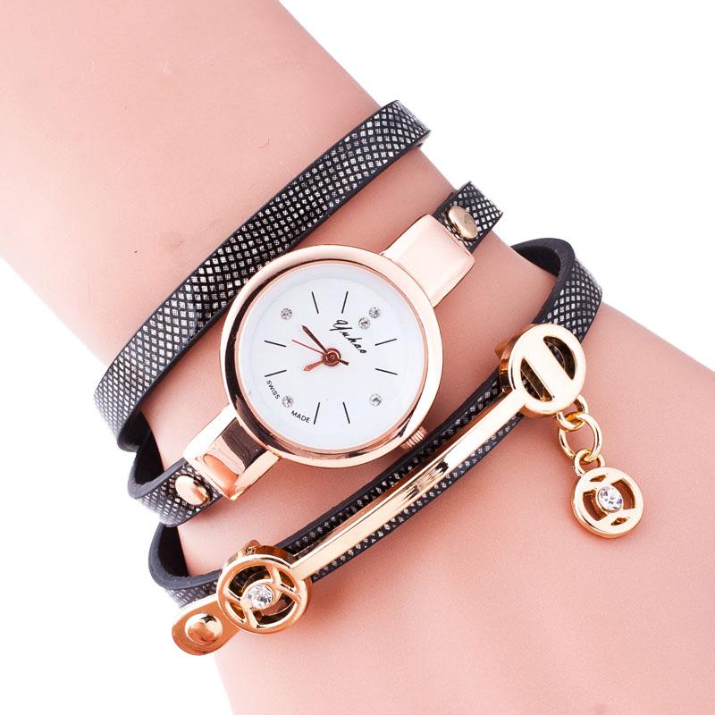New Style Leather Bracelet Quartz Watch Women Fas...