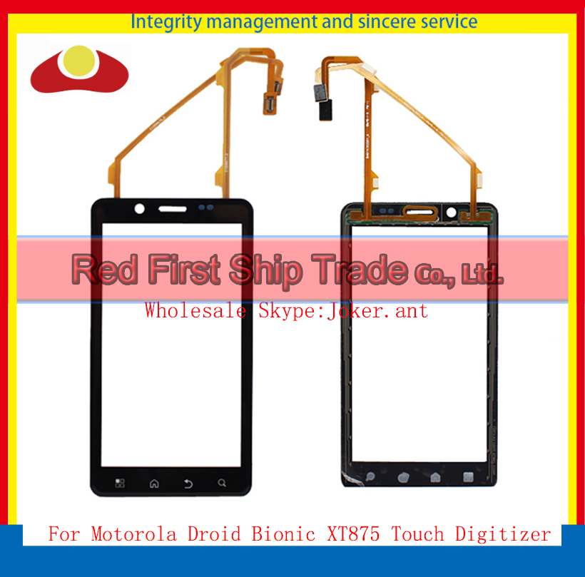10Pcs/lot High Quality For Motorola Droid Bionic XT875 Touch Screen Digitizer Sensor Front Glass Lens Black(China (Mainland))