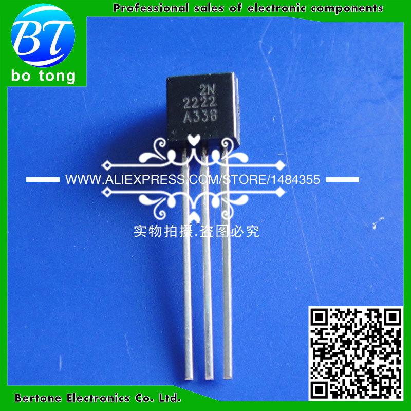 Il trasporto libero 100 pz 2n2222 2n2222a to-92 npn transistor di commutazione(China (Mainland))