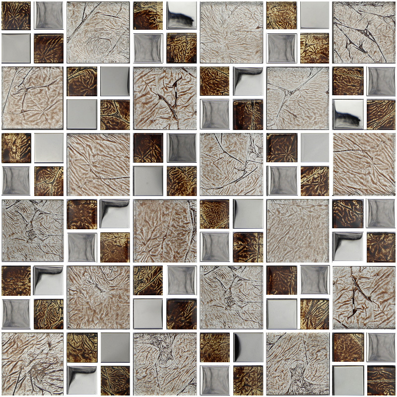 brown crystal glass mosaic HMGM1147 for kitchen backsplash tile bathroom shower hallway wall mosaic free shipping<br><br>Aliexpress
