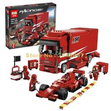 Buy Lepin 21022 554Pcs Super Racing Series F1 Automobile Carrier Children Educational Building Bricks Blocks Boy Toys Model 8185 for $39.99 in AliExpress store