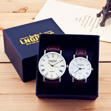 Presents for Men Watches Simple Elegant 12 Roman Numerals Black Waterproof Couple Watch Gifts for Men Clock Pareja Pair Watches(China)