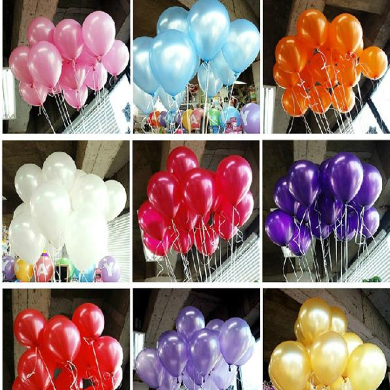 100pc/lot 10' Inch1.2g Helium Latex Balloons Party Wedding Birthday Christmas Event Decoration Balloon Kids Toy - honest fish's store