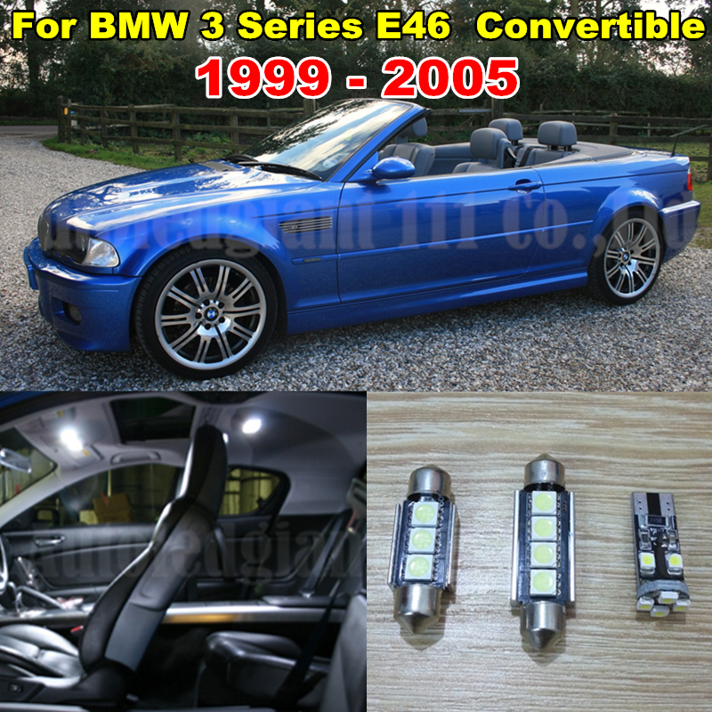 10x Cold White Error Car LED Dome Canbus Light BMW 3 Series - E46 Interior lighting kit M3 Convertible +Tag WLJH Carparts Store store