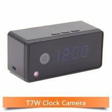 Wifi Clock Camera Alarm Setting 720P HD H.264 IP Mini Kamera Night Vision Table Clock Camera Video Cam Mini DV DVR Camcorder(China (Mainland))