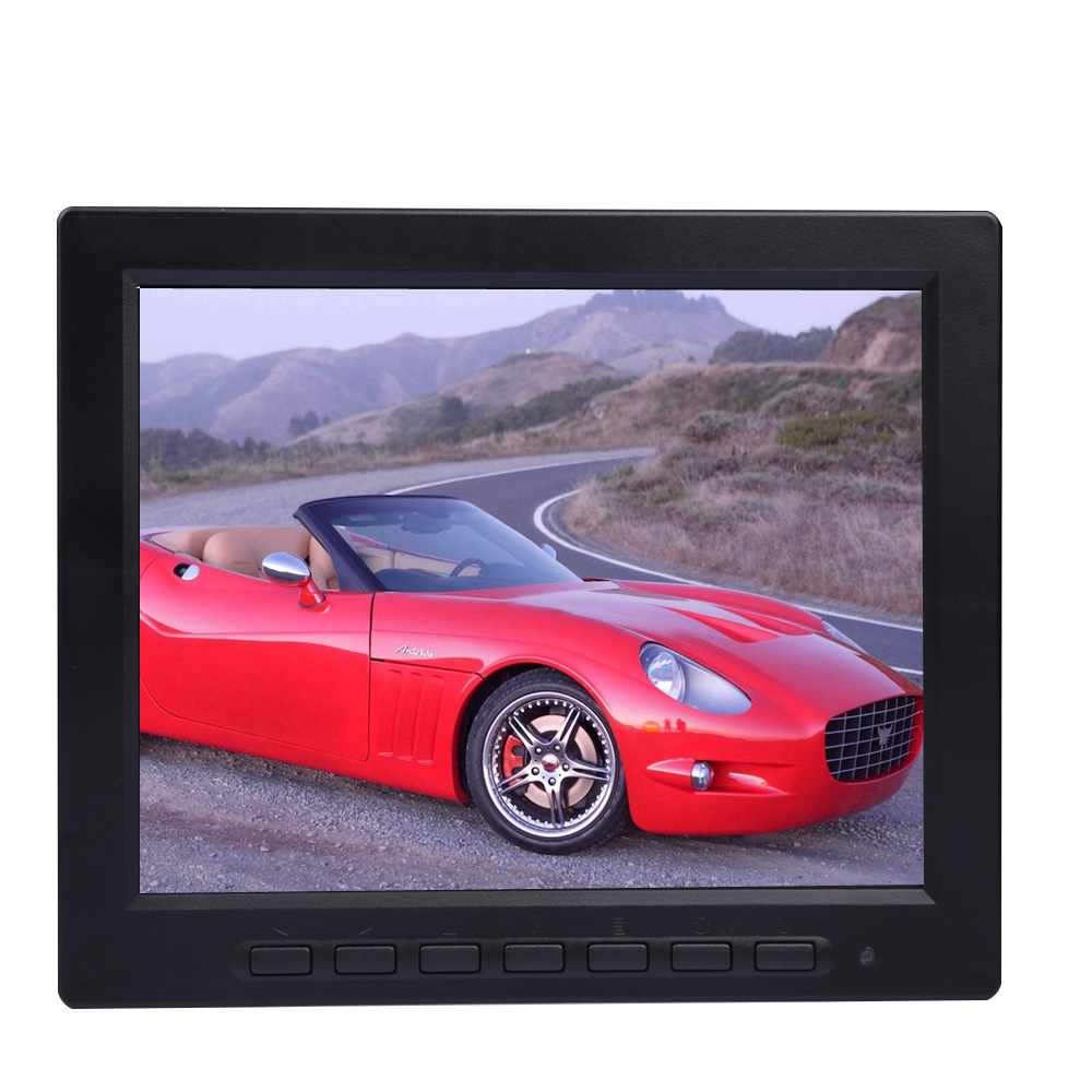 8 Inch TFT LCD Monitor with VGA / BNC Input for Car Reverse Camera and PC Computer Screen 1024 x 768 Support Flip Image Display(China (Mainland))