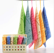 25*25cm Special Absorbent Microfiber Kitchen Cleaning Small Square Towel Bathroom car dish cloth rags 6 Colors to choose BH062(China (Mainland))
