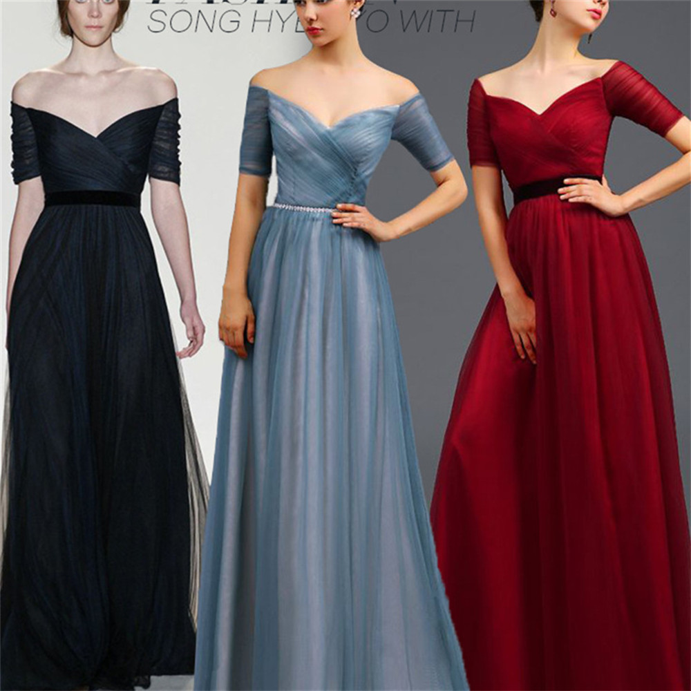 2015 Summer Style Womens Party Long Dresses V-neck Shoulder Maxi Floor-Length Woman Dress Vestidos Wedding 4XL