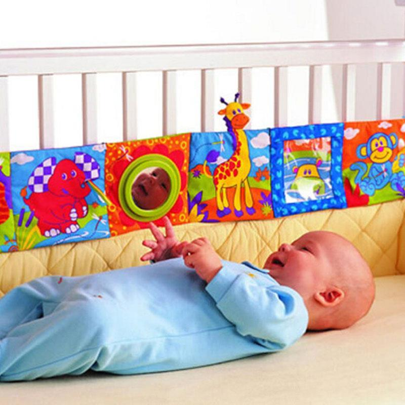 Kids Mirror Animal Bed Cognize Cloth Book Infant Baby Toy Cute Popular(China (Mainland))