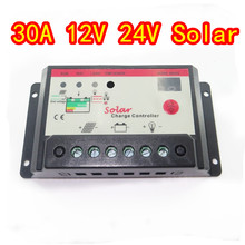 30A 12V 24V Auto Solar Battery Charge Controller with timer, 30Amps lamp regulator for LED street lighting or solar home system(China (Mainland))