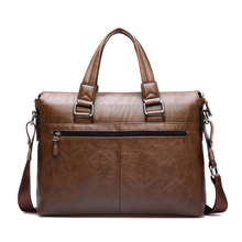 Vintage Leather Handbags Genuine Leather Briefcase for Men Laptop Briefcase Shoulder Bags Casual Crossbody Bags MaletinD018