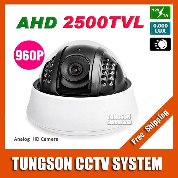 NEW 2500TVL Video Surveillance Beautiful White Indoor Dome Cam IR-CUT Security AHD 1.40 MP 1280*960P CCTV Camera Free Shipping(China (Mainland))