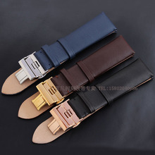 Watchbands strap Bracelets Black Brown Blue Watch Accessories 20mm 22mm Fit AR0383|1647|0382|0397|0385|0387|0388 butterfly clasp