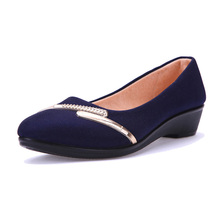 Women's Loafers Soft cloth Women Pointed Low Heel Single Shoes Casual Red/blue/black Free Shipping Hot Selling Spring and Autumn