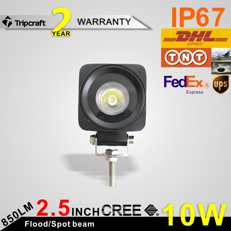 2 INCH 10W CREE LED WORK LIGHT FLOOD /SPOT for OFF ROAD USE FOG LAMP<br><br>Aliexpress