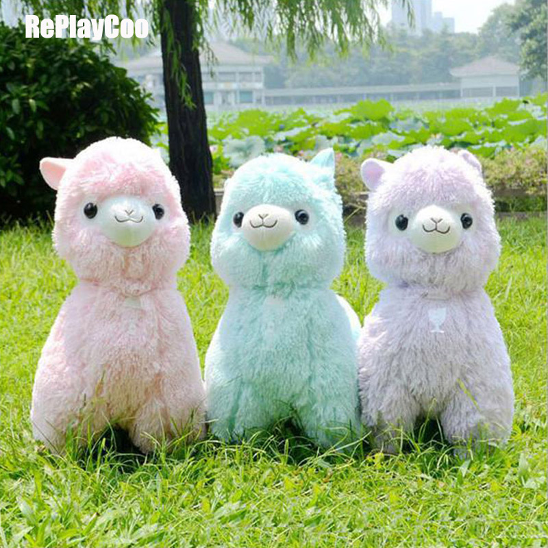 45cm/18'' New Alpaca Plush Toys Adora Doll Vicugna Pacos Arpakasso 5 colors soft cute animal toy Sheep stuffed bicho de pelucia(China (Mainland))