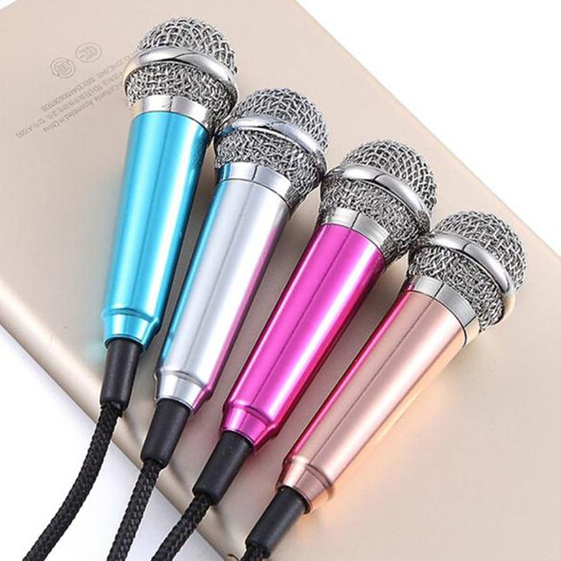Top Quality New 3.5mm Wired Clip On Mini Lapel Mini Headset Microphone Silver For Mobile Phone Sing Song Karaoke Microphone N25(China (Mainland))