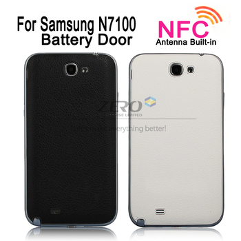 Lychee Skin Texture Back Rear Cover Replacement for Samsung Galaxy Note 2 II N7100 Battery Door Cover Housing, With NFC Antenna