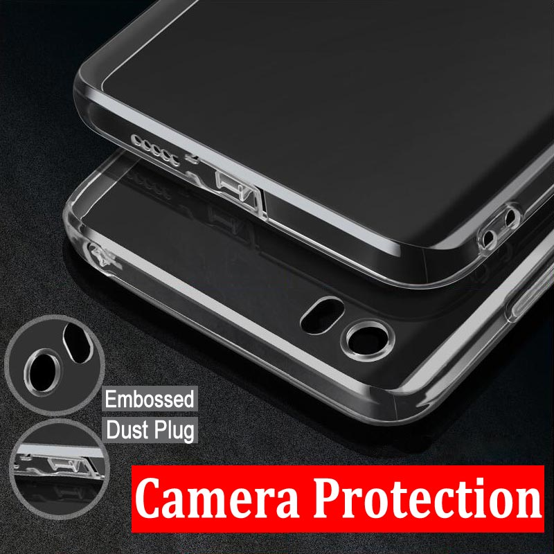 Camera Protection case for Xiaomi mi5 clear transparent Shock Resistant soft TPU material with dust plug free shipping(China (Mainland))