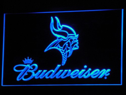 b279 Minnesota Vikings Budweiser LED Neon Light Signs Wholesale Dropshipping On/ Off Switch 7 colors DHL(China (Mainland))
