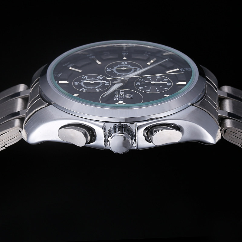 MEGIR Известный Бренд Спортивные Часы Мужчины Точные Хронограф Многофункциональный Большой Циферблат Из Нержавеющей Стали Группа Мужчин Кварцевые Часы