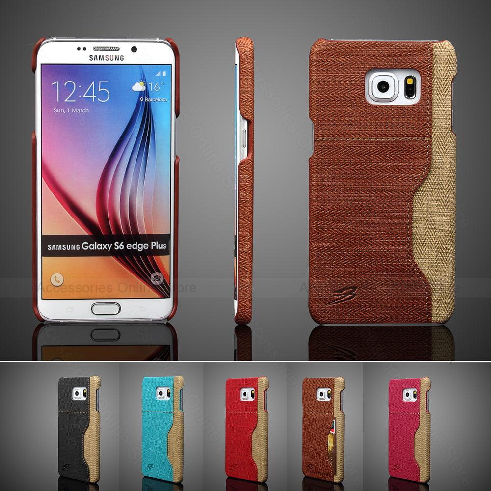 Special Grain Retro Leather Skin Back Cover Case For Samsung Galaxy S6 Edge Plus G920 G925 G928 Card Slot Mobile Phone Cases(China (Mainland))