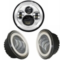 1X 7 40W H4 H L LED Headlight 2 Pcs 4 5Inch 30W LED Motorcycle Headlight