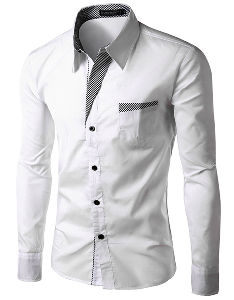 Cheap Mens White Dress Shirts