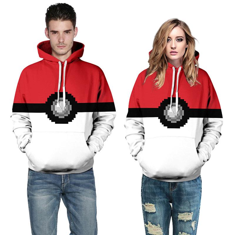 2016 Men Hoodies cotton Jacket Coat hip hop Pokemon hoodies men Hooded Rock Hoodie Men Tracksuits sweatshirts hoody 3xl(China (Mainland))
