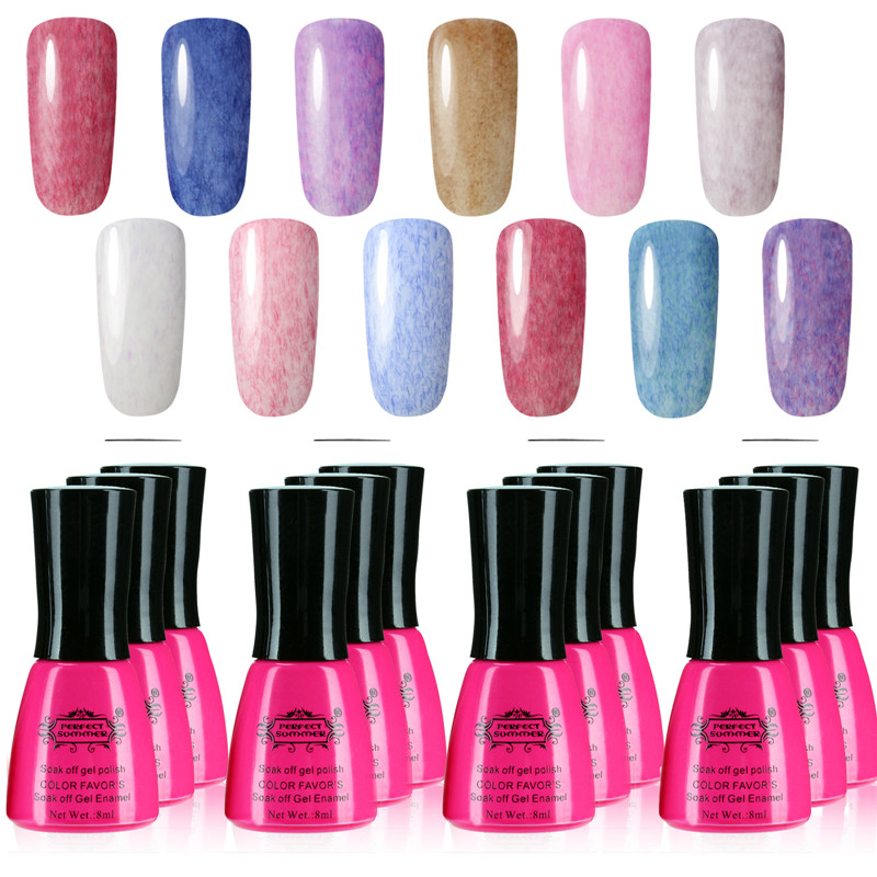 Perfect Summer Faux Fur gel nail polish 50 colors Long-lasting Soak LED UV 8ml new Lot 12 - Nail Store store