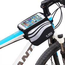 Buy Bicycle Touch Screen Phone Bag MTB Road Bike Frame Mobile Bag Cycling Front Bags 5.7 inch Cellphone Bag Bicycle Accessories for $6.15 in AliExpress store