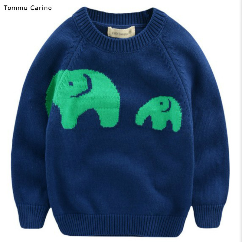 Autumn Winter Baby Clothing Good Quality O-Neck Kids Boys Girls Children Sweater Elephants Pullovers Outerwear