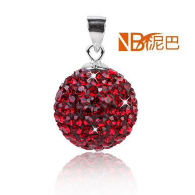 Free Shipping Wholesale Crystal Pave Bead Necklace Pendant