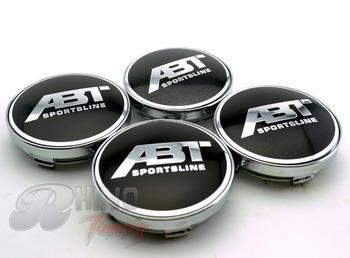 4*60mm ABT SPORTSLINE Car Wheel Centre Caps Badge Styling Car Hub Cap Emblem for VW 266
