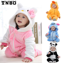 Baby Rompers Winther Animal Baby Girl Costume With Hood 8 Styles Spring Newborn Baby Boy Clothes Infant Clothing Baby Hoodies