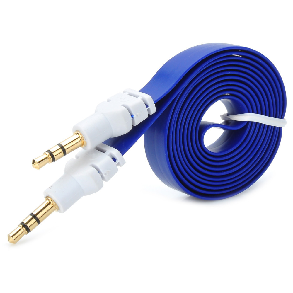 Flat 3.5mm Male to Male Audio Extension Cable (1m)(China (Mainland))