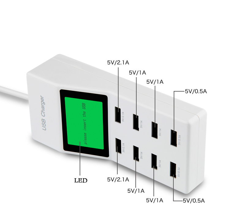 Aliexpress.com : Buy EU US UK 8 USB Port travel Home Wall Charger ...