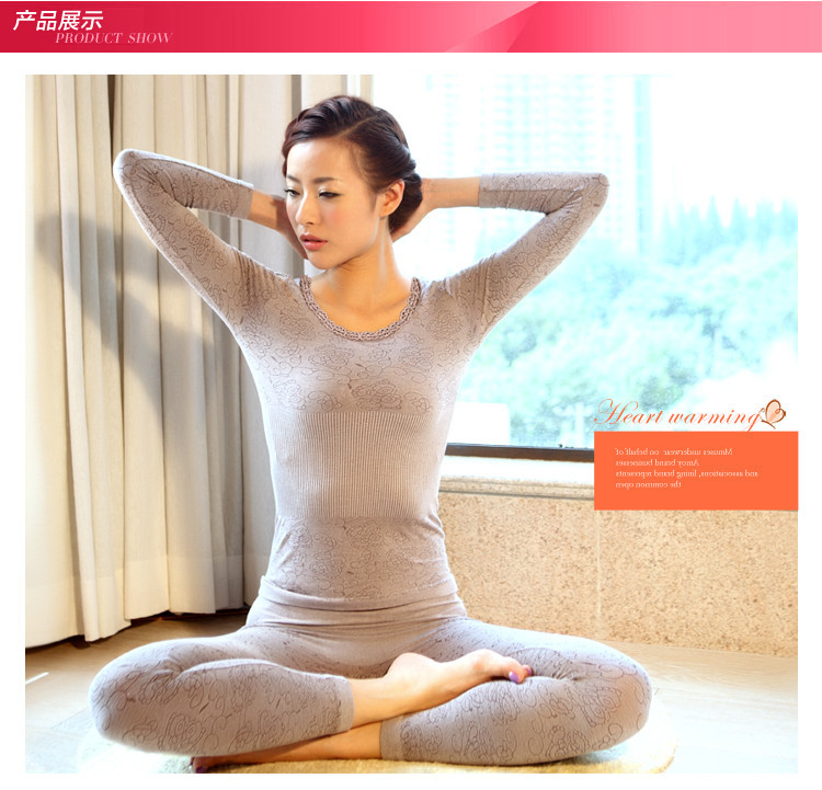 Fashion Women Termica Long Johns Female Slim Body Shaping Seamless Sexy Ladies Lace Thermal Underwear Plus Size Warm(China (Mainland))