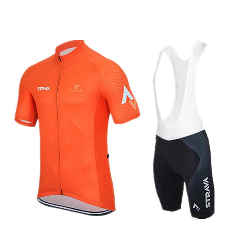 Cycling clothing ropa ciclismo racing men Summer maillot ciclismo Bike Sportswear Short Sleeve Cycling jersey/orange yellow(China (Mainland))