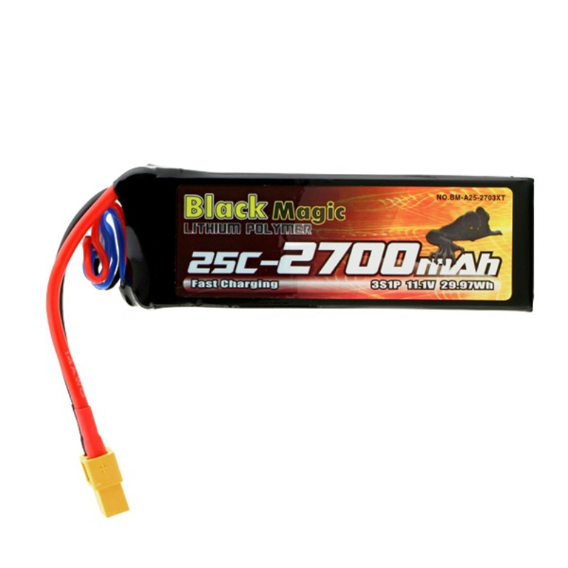Здесь можно купить  Black Magic LiPo Battery 2700mAh 11.1V 3s 25C XT60 Plug for DJI Phantom Quadcopter Helicopter Part Lithium Polymer Battery  Игрушки и Хобби