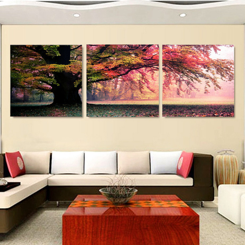 Fashion 3 Piece Wall Art Pictures Print On Canvas