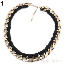 Fashion Women Necklace Chain Collar Statement Necklace Choker Punk Party Jewelry Gift 1EV5